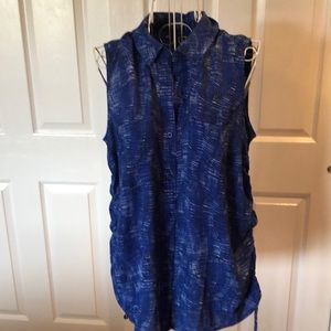 Stylish Blue Sleeveless Blouse by Apt. 9